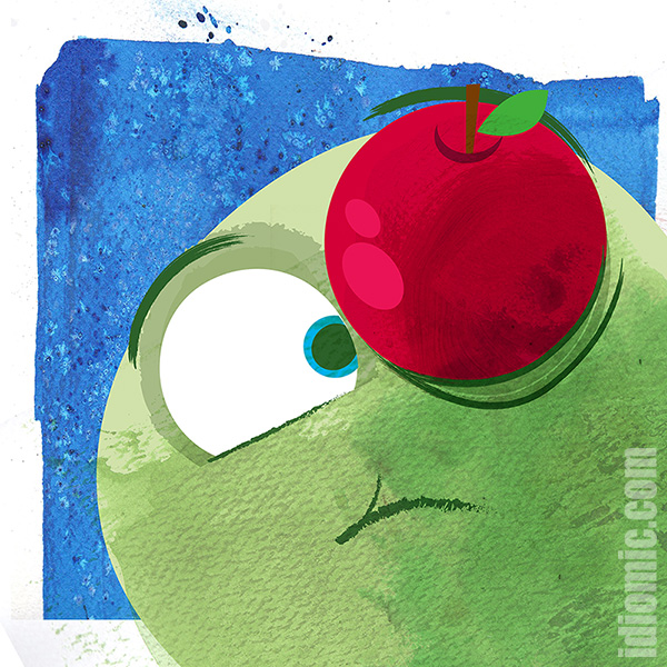Apple Of Your Eye Illustrated At Idiomic Definition Example